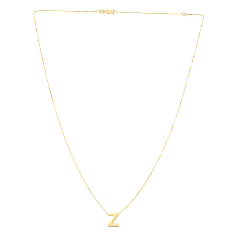 Royal Chain 14K Gold Block Letter Initial Z Necklace
