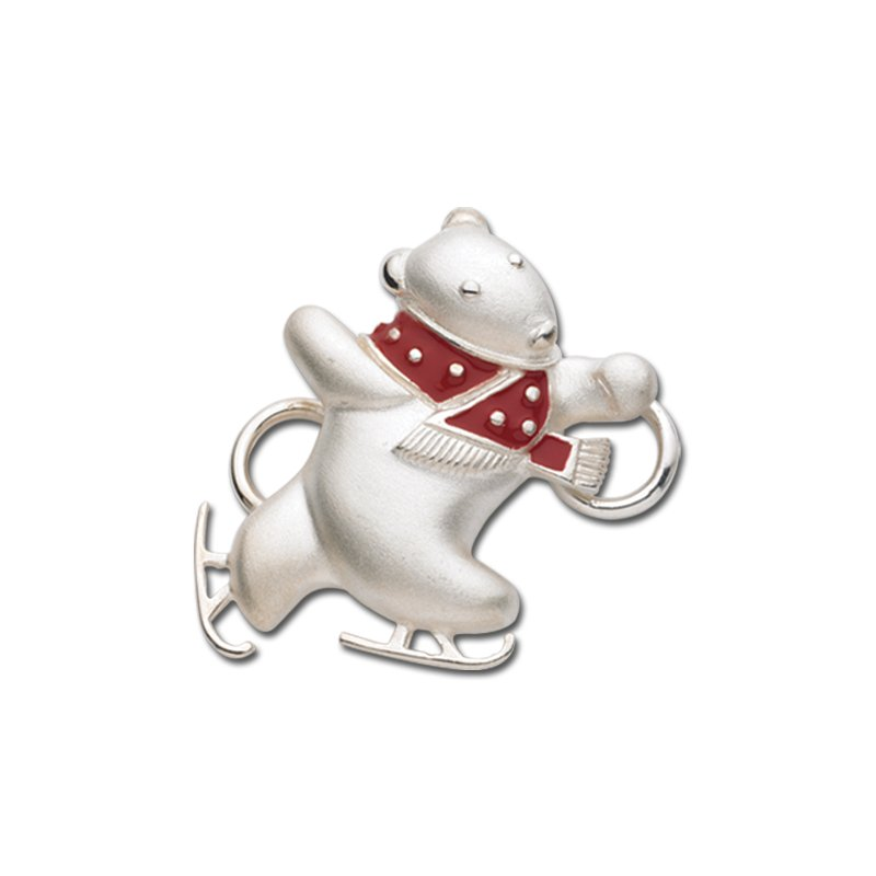 Lestage Sterling Silver Polar Bear