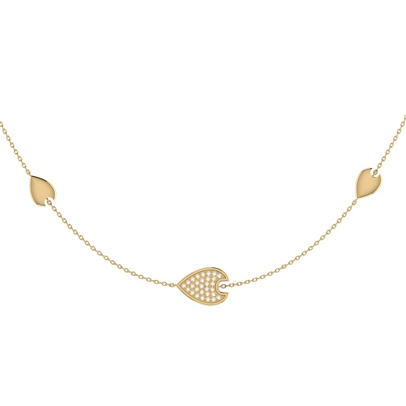 Luv My Jewelry Avani Raindrop Necklace in 14 KT Yellow Gold Vermeil on Sterling Silver