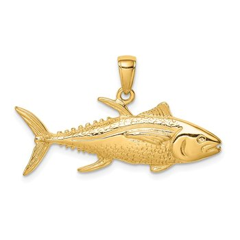 14K Yellowfin Tuna Fish Pendant