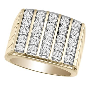 14K 2.00Ct Diam Men&Comma;S  Ring