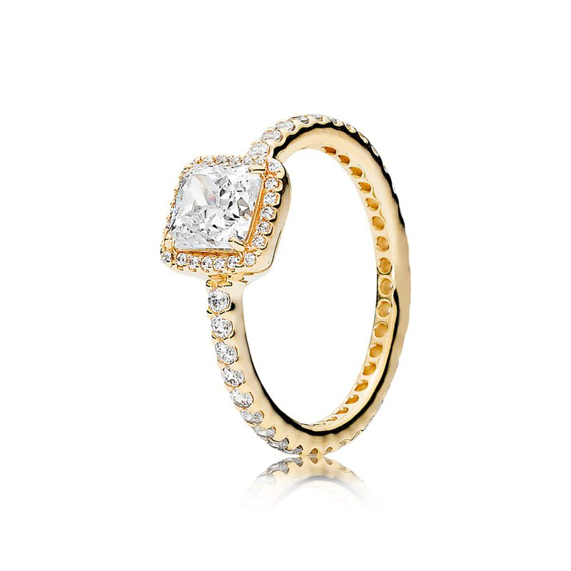 9d233c833 PANDORA Timeless Elegance Ring, 14K Gold Clear Cz. Stock # 150188CZ