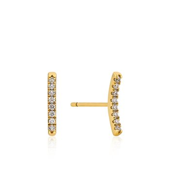 Shimmer Pavé Bar Stud Earrings