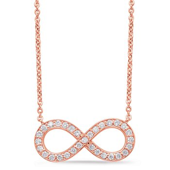 Rose Gold Infinity Sign Necklace