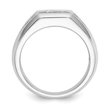 14kw True Origin Lab Grown Diamond VS/SI, D E F, Polished Men's Band