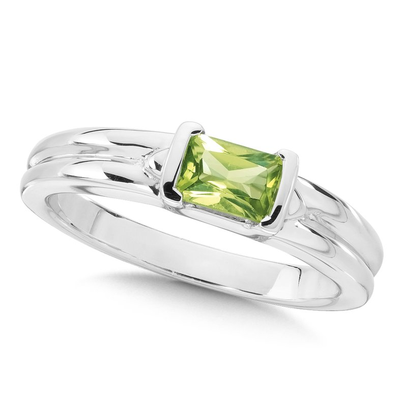 Colore Sg Sterling Silver Peridot Essentials Ring