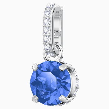 Swarovski Remix Collection Charm, September, Dark Blue, Rhodium plated