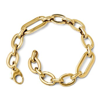 Leslie's 14K Polished 7in Fancy Link Bracelet
