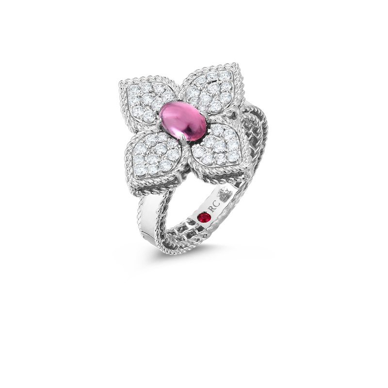 Roberto Coin 18K Diamond & Rubellite Flower Ring