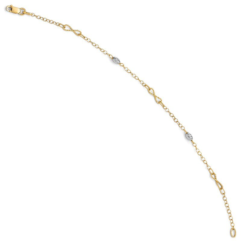 Leslie's Leslie's 14K Two-tone Polished and D/C Bracelet