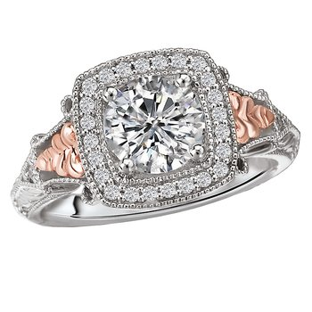 Two-Tone Halo Semi-Mount Ring