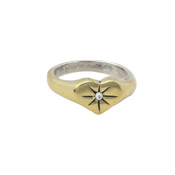 Guided By Heart Compass Ring - Size 10