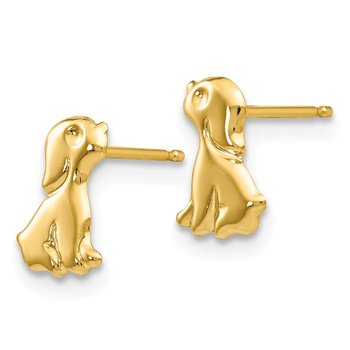 14k Madi K Sitting Dog Post Earrings