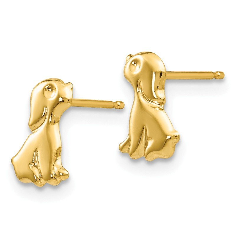 Quality Gold 14k Madi K Sitting Dog Post Earrings