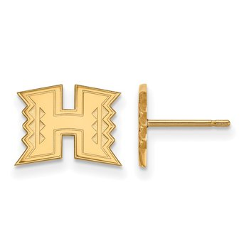 Gold-Plated Sterling Silver University of Hawaii NCAA Earrings
