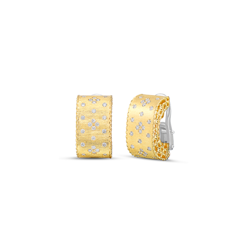 Roberto Coin 18KT GOLD DIAMOND EARRINGS