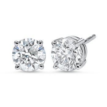 Diamond Stud Earrings in 18K White Gold (1 ct. tw.) I1 - G/H