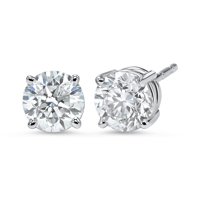 Gems One Diamond Stud Earrings in 18K White Gold (1 ct. tw.) I1 - G/H