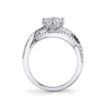 MARS 25605 Diamond Engagement Ring 0.57 Ctw.