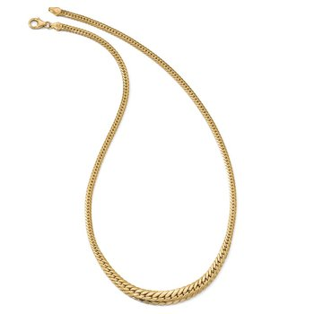Leslie's 14k Polished Graduated Fancy Link Necklace