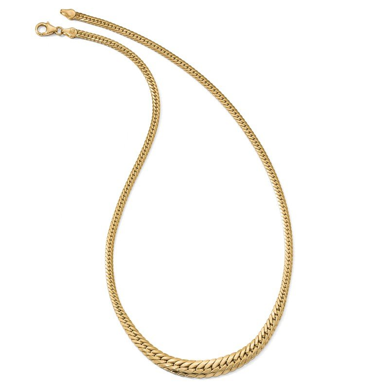 Leslie's Leslie's 14K Polished Graduated Fancy Link Necklace