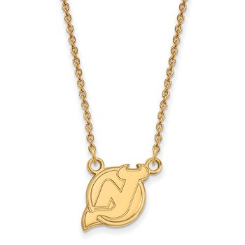 Gold New Jersey Devils NHL Necklace