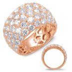 Briana Rose Gold Diamond Fashion Ring