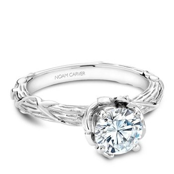 Noam Carver Floral Engagement Ring B081-01A