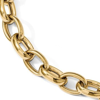 Leslie's 14K Polished Fancy Link 8in w/.5 ext. Bracelet