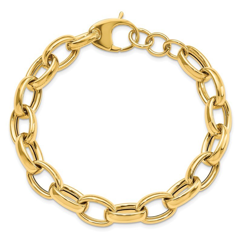 Leslie's Leslie's 14K Polished Fancy Link 8in w/.5 ext. Bracelet