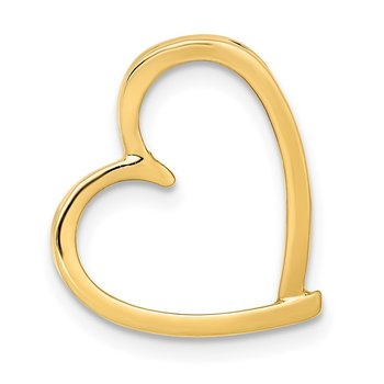 14K Chain Slide Heart