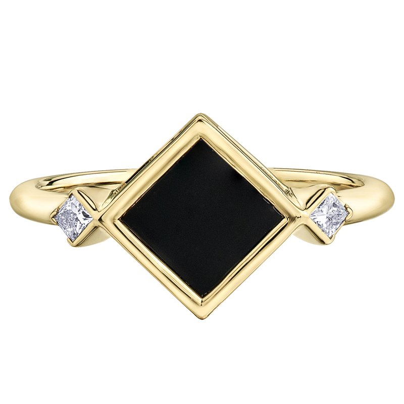 Timeless Beauty Onyx Ladies Ring