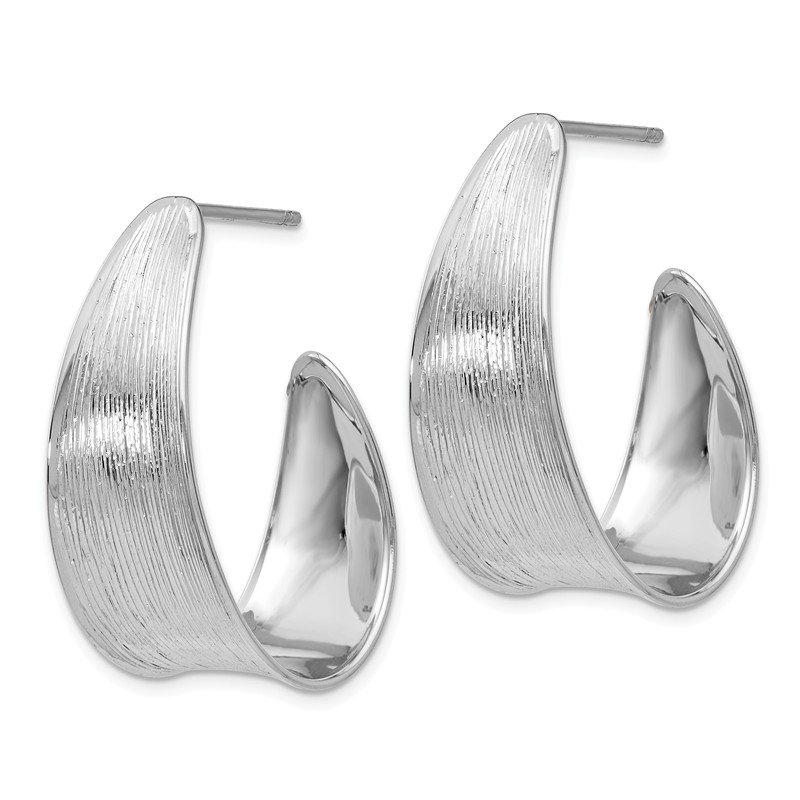 Leslie's Leslie's Sterling Silver Polished and Textured Earrings