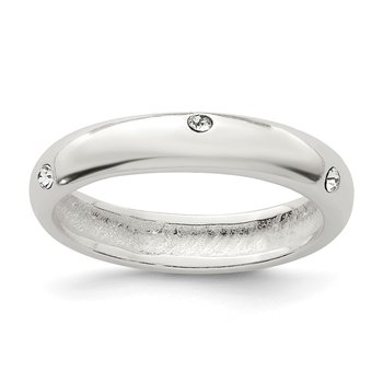 Sterling Silver Stellux Crystal Ring