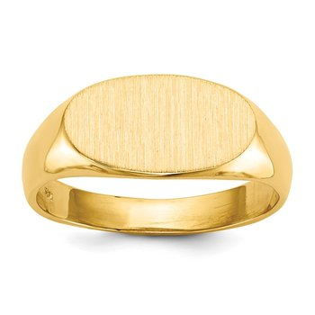 14k 7.0x13.5mm Open Back Signet Ring