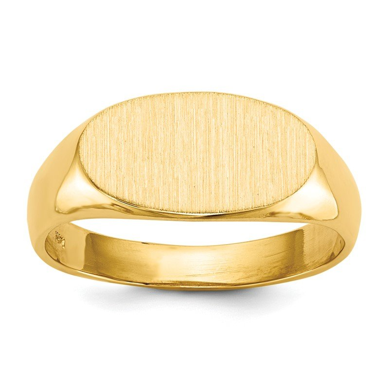 Quality Gold 14k 7.0x13.5mm Open Back Signet Ring