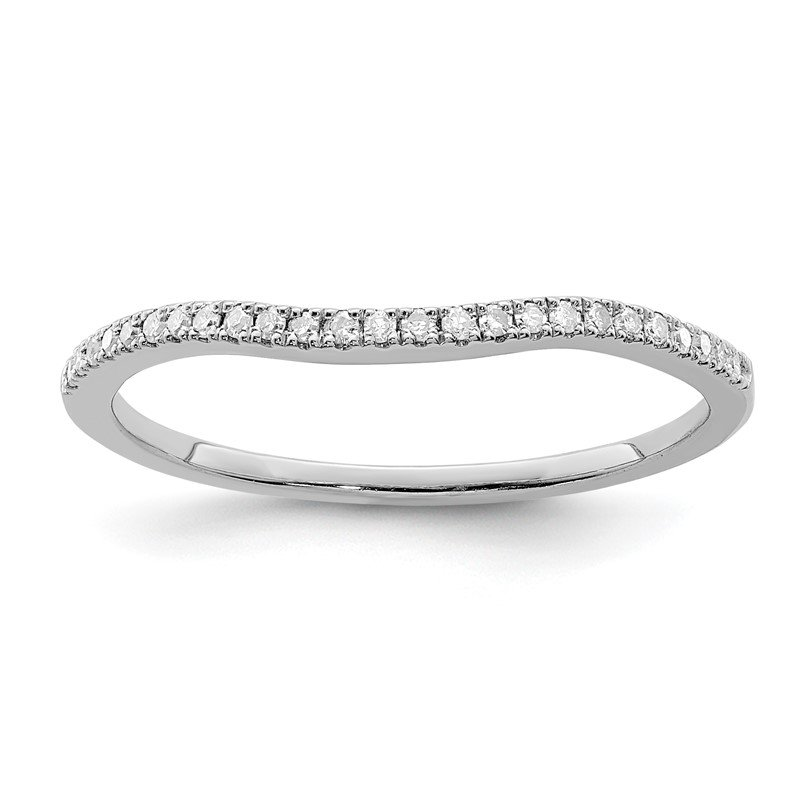 Quality Gold Sterling Silver Rhodium Plated Diamond Wrap Ring
