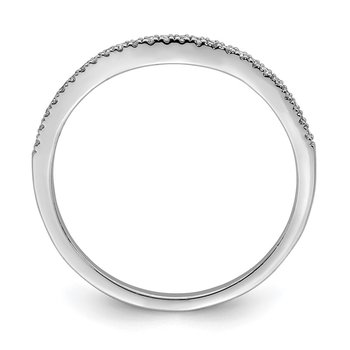 Sterling Silver Rhodium Plated Diamond Wrap Ring