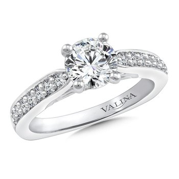 Diamond Engagement Ring Mounting in 14K White Gold (.27 ct. tw.)