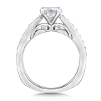Valina Diamond Engagement Ring Mounting in 14K White Gold (.27 ct. tw.)