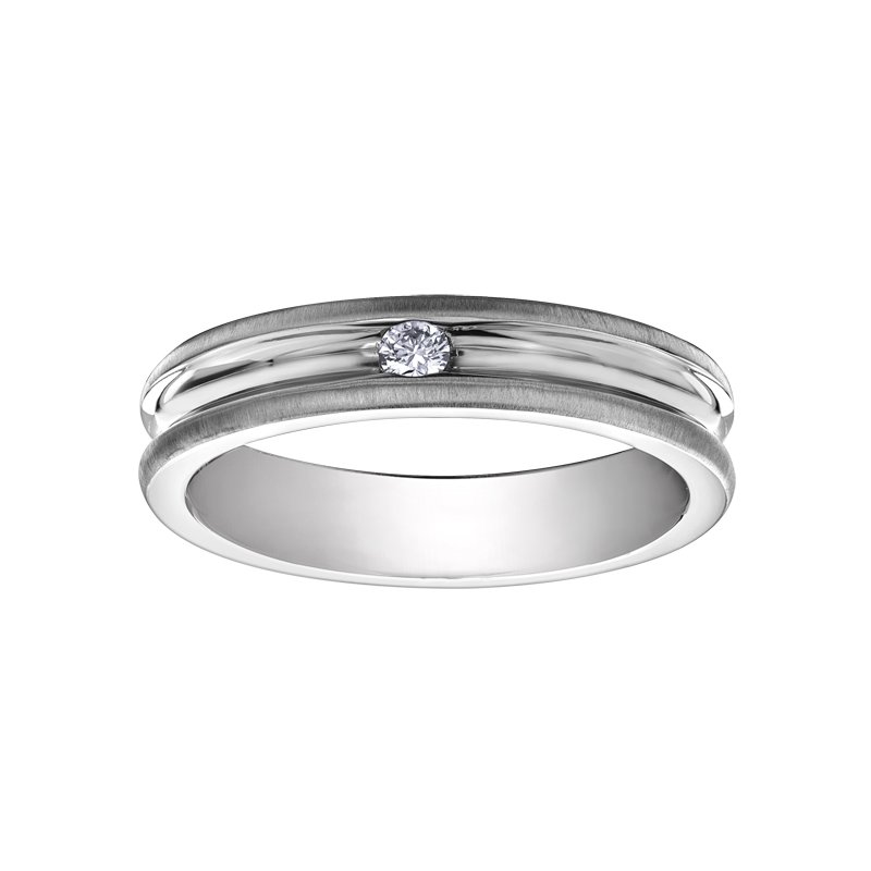 I Am Canadian Diamond Wedding Band