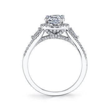 MARS 25086 Diamond Engagement Ring 0.31 Ct Rd, 0.16 Ct Bg.