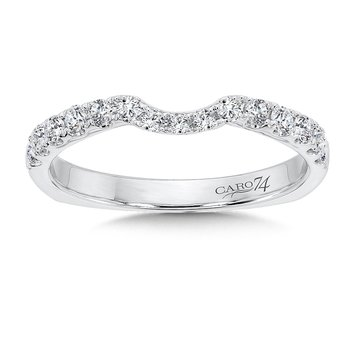 Diamond and 14K White Gold Wedding Band