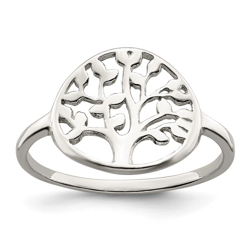 Quality Gold Sterling Silver Polished Tree Ring