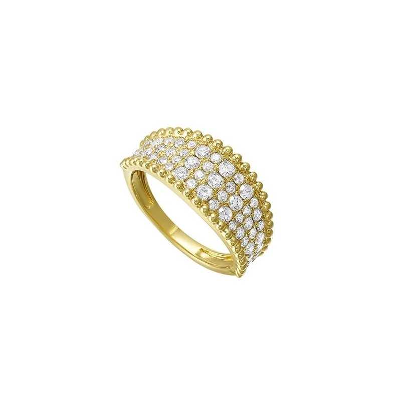 Gems One Diamond Studded Milgrain Ring in 14K Yellow Gold (1 ct. tw.)