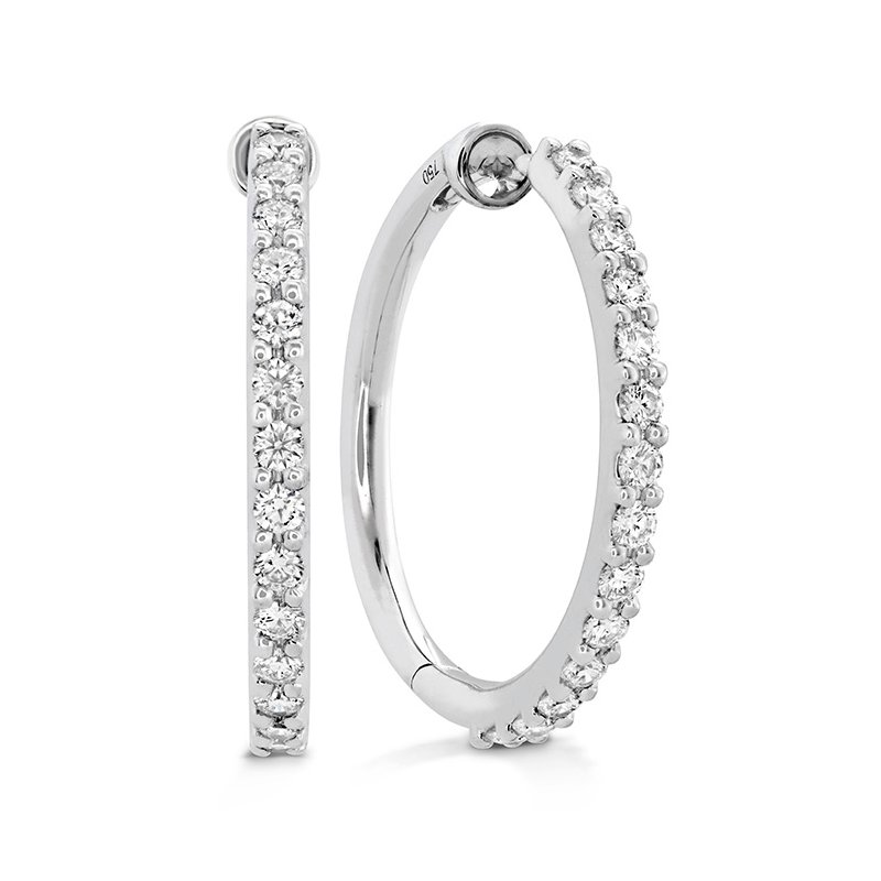 Hearts on Fire 0.45 ctw. HOF Classic Diamond Hoop - Medium