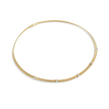 Masai Collection 18K Yellow Gold and Diamond 5 Station Collar