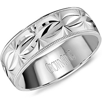 CrownRing Men's Wedding Band WB-8084
