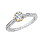 Promezza 14K Two-Tone Gold Round Diamond Engagement Ring