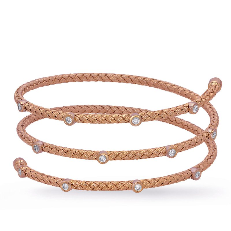 S. Kashi  & Sons Rose Gold Bangle Italian Made